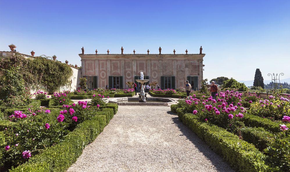 The Boboli gardens in Florence, garden Cavaliere. Italy
