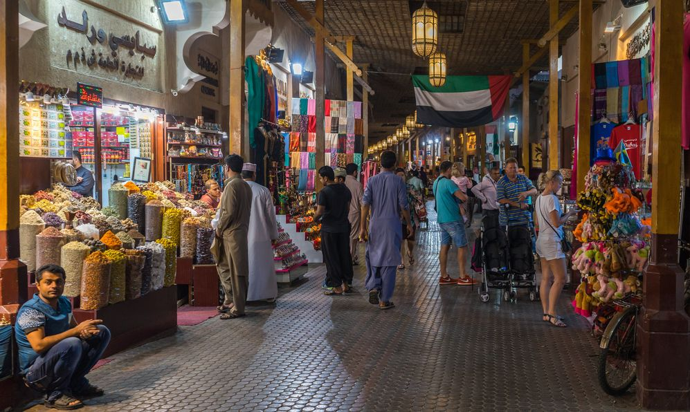 Dubai spice souk in Deira district