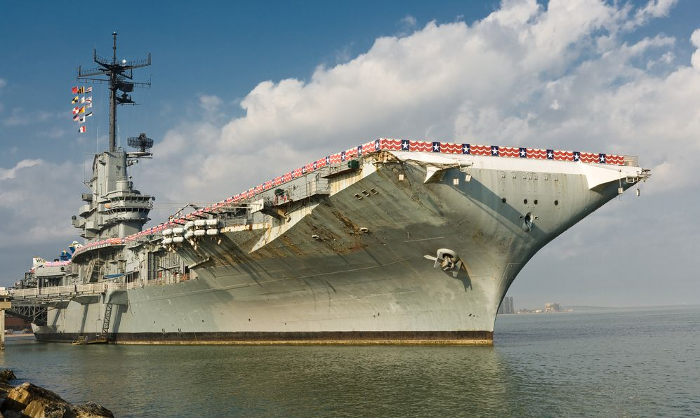 USS Lexington Aircraft Carrier in Corpus Christi