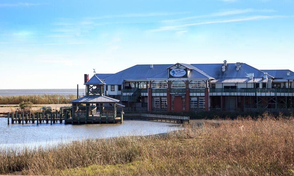 Seafood Restaurant overlooking a marsh