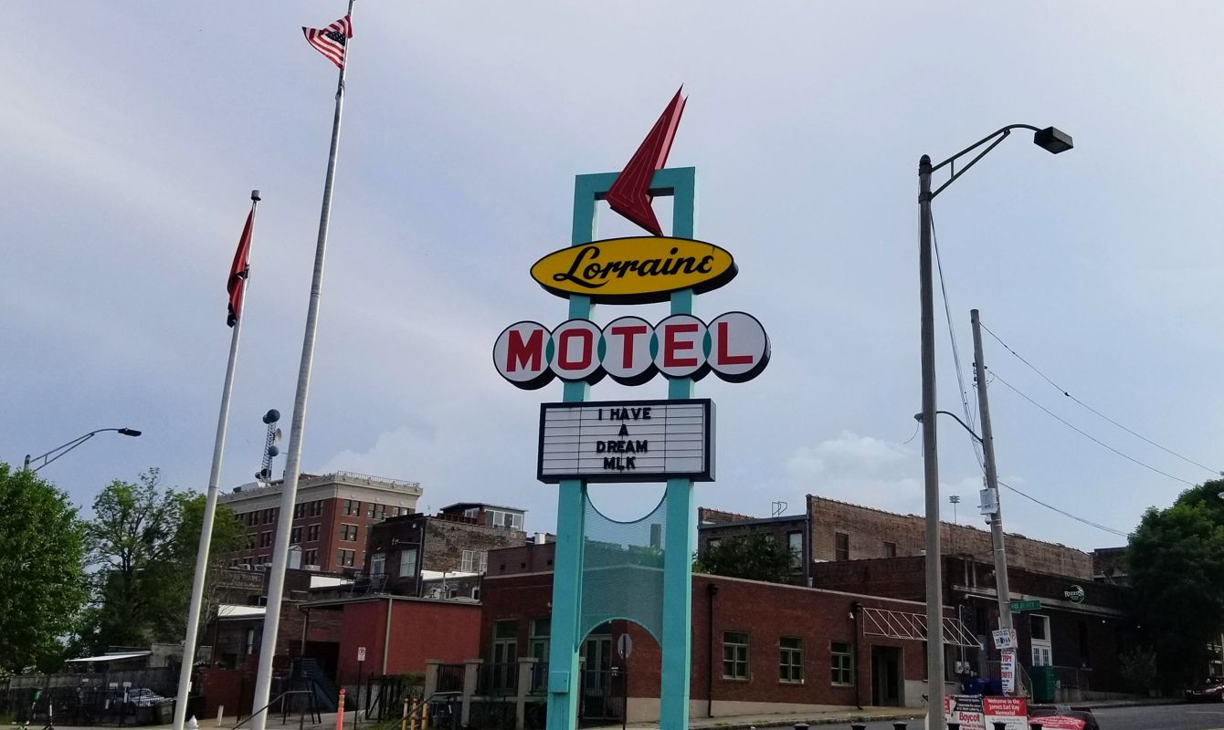 Exterior sign outside the Lorraine Motel