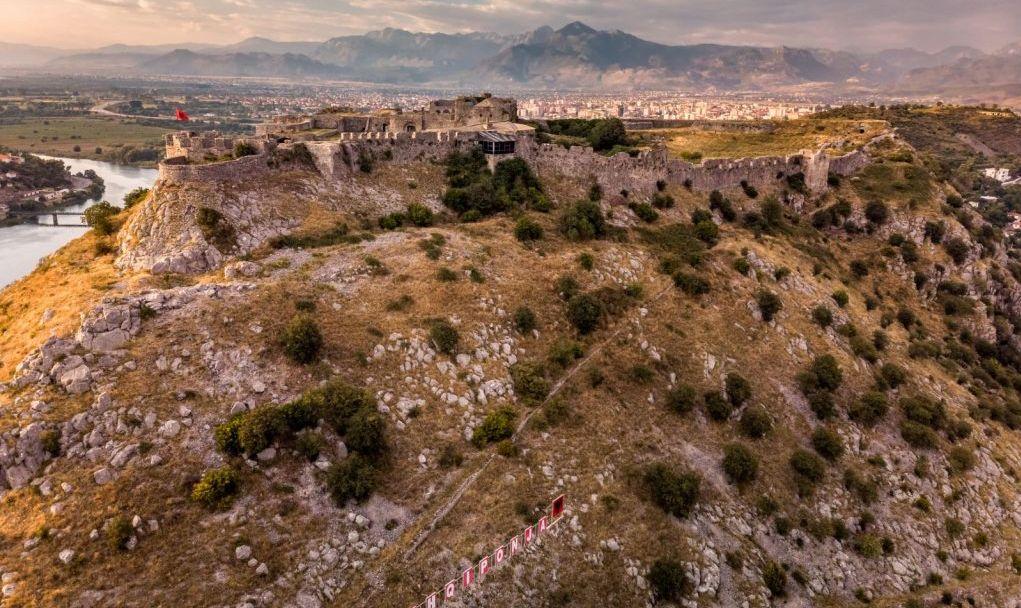 Ruins of Rozafa Castle in Shkoder, Albania