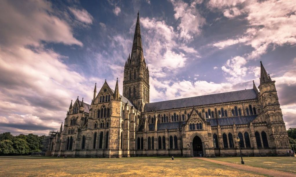 Ancient cathedral of Salisbury, England