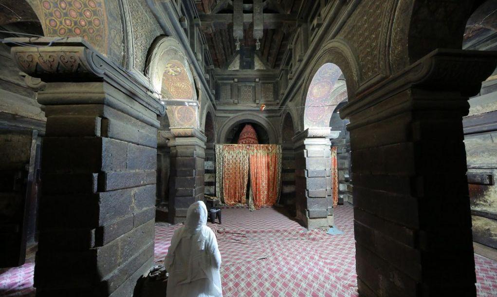 Yemrehana Kristos Church in Lalibela, Ethiopia