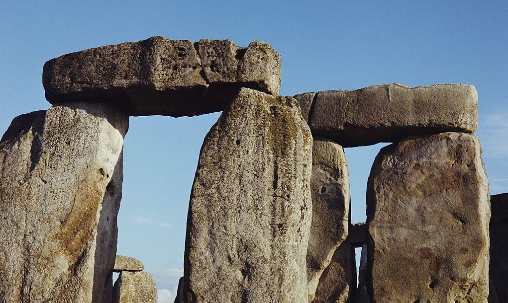 Stonehenge, a prehistoric stone monument in Wiltshire, UK, circa 1960.