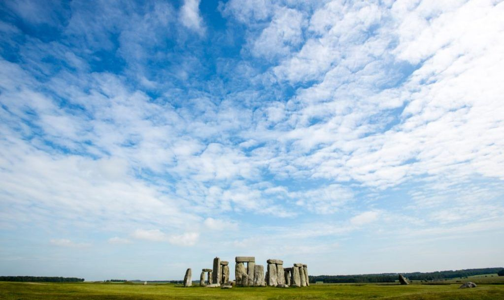 A photograph of Stonehenge. A very popular landmark for people visiting England.