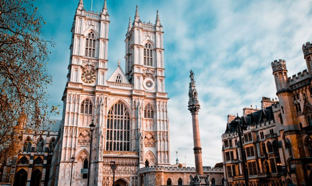 Westminster Abbey (built 1045–1050), the ancient cathedral used for British Coronations and Royal Weddings