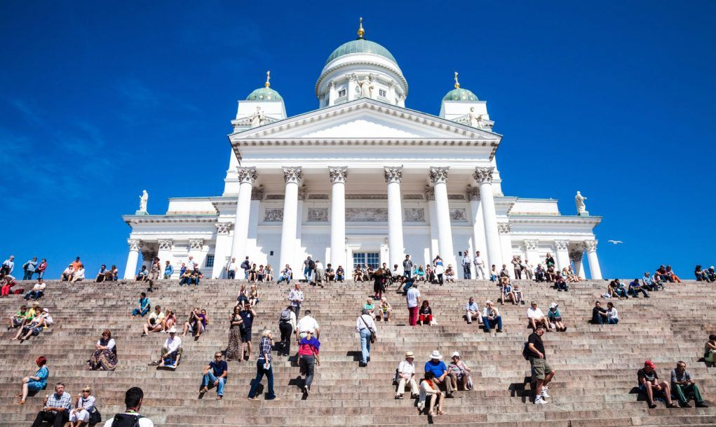 Helsinki Cathedral in city center, Finland.