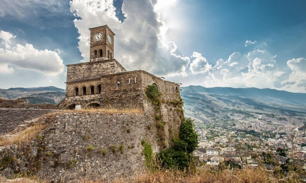 Gjirokastra Castle Albania unesco World heritage sightseeing