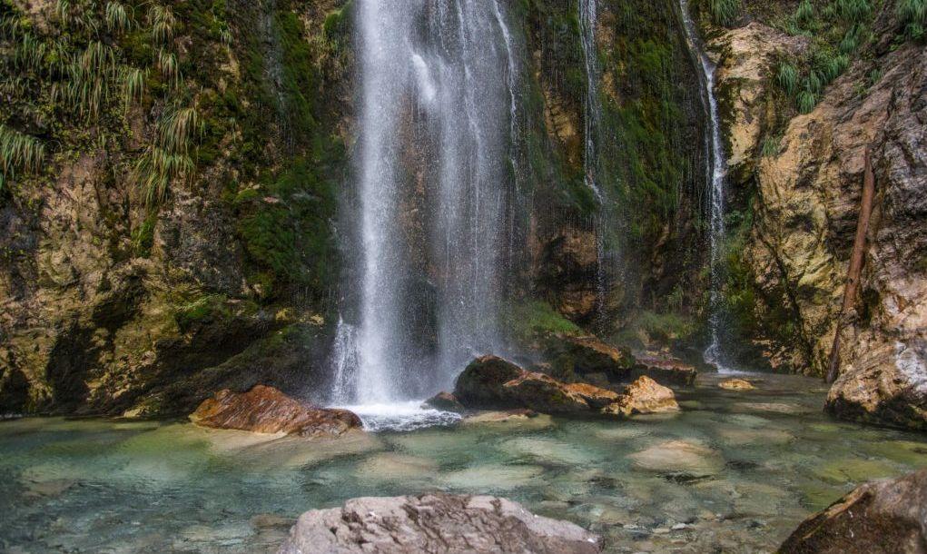 Fall in Theth, Grunas Canyon, Albania
