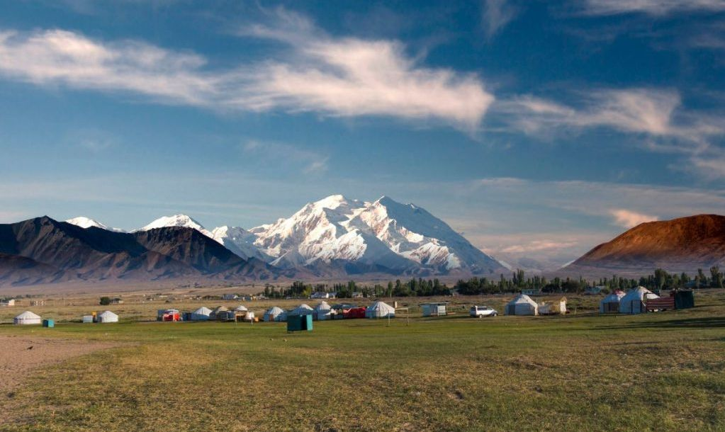 Tents Yurts - homes of nomadic asian people in Kyrgyzstan