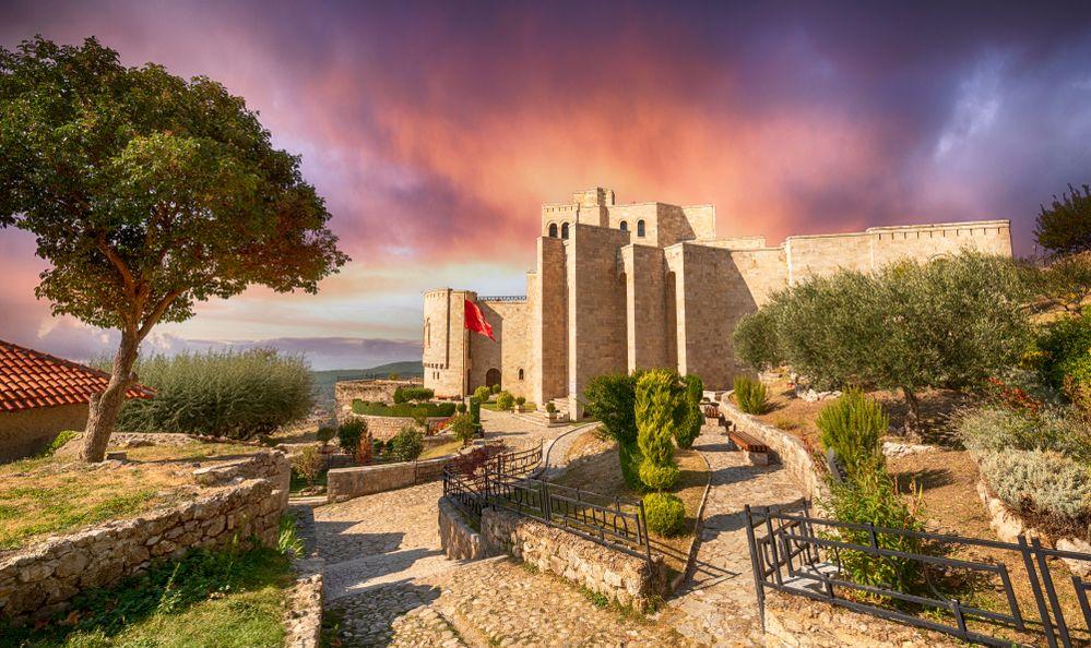 The Skanderbeg Museum in Kruje, Albania.