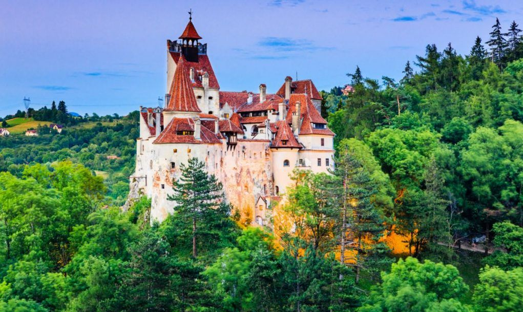 Brasov, Transylvania. Romania. The medieval Castle of Bran, known for the myth of Dracula