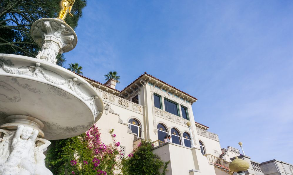Facade of Casa del Mar, one of the cottages that used to house guests, Hearst Castle