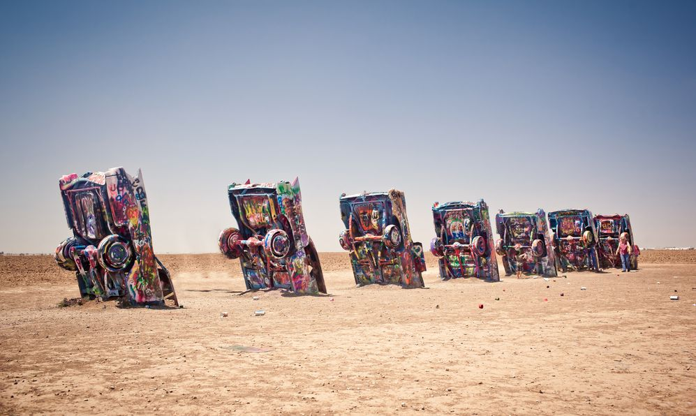 Famous art installation Cadillac Ranch