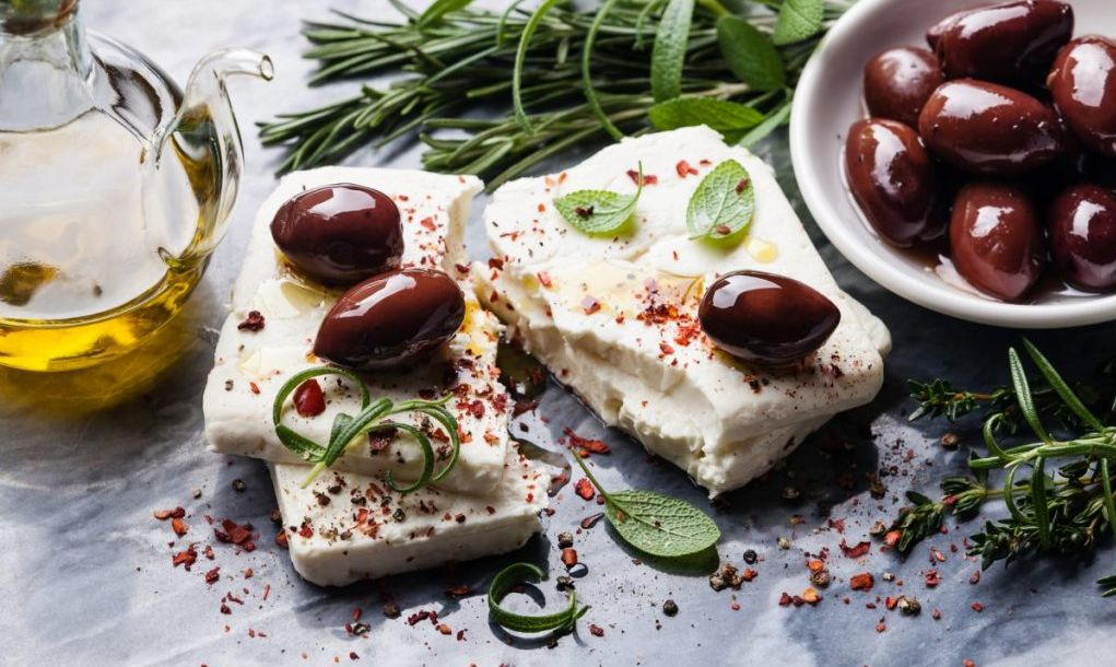 olives and feta cheese