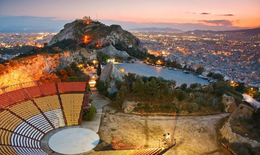 athens sunset lycabettus hill