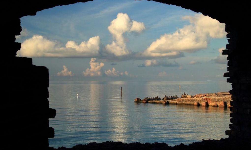 Consisting of seven small islands in the Gulf Of Mexico, Dry Tortugas National Park in the Florida Keys is considered of the most isolated national parks in the United States
