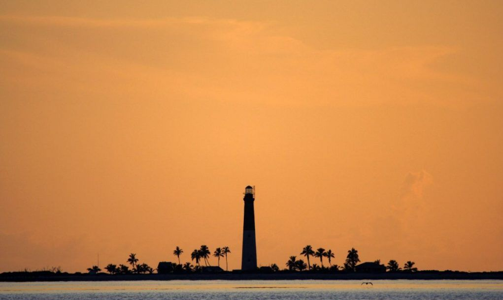 Loggerhead Lighthouse in Dry Tortugas National Park, Florida Keys