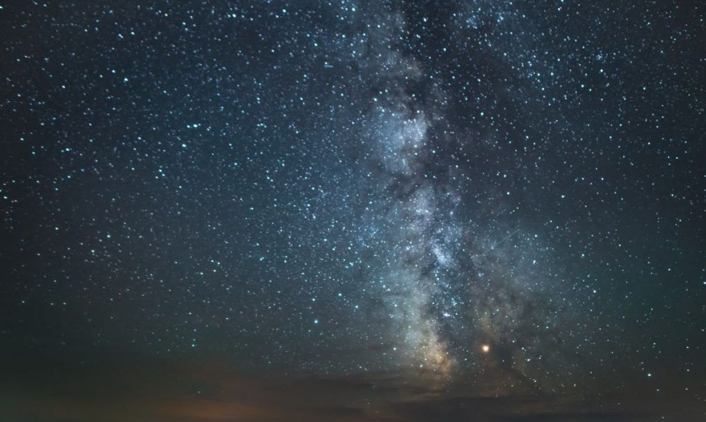 Milky Way above Sage Creek Campground in Badlands National Park, South Dakota