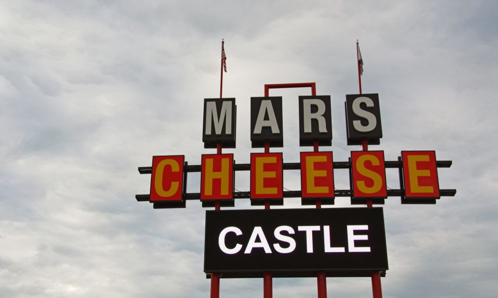 "Mars Cheese Castle has been an iconic road stop and ""cheese landmark"" on interstate 94 between Milwaukee and Chicago for generations going back to 1947"