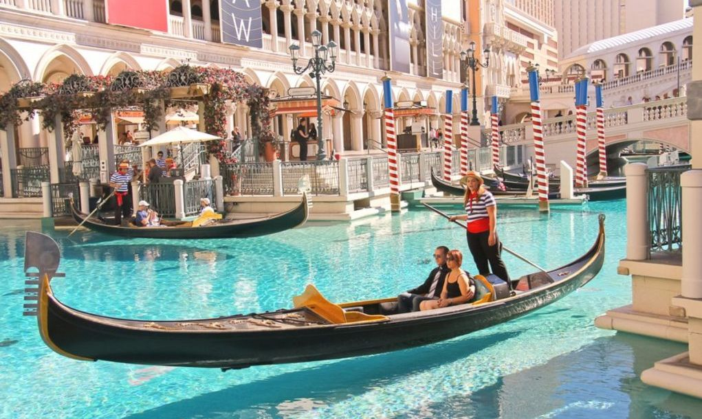 Gondola rides in Venetian Hotel on October 20, 2013 in Las Vegas