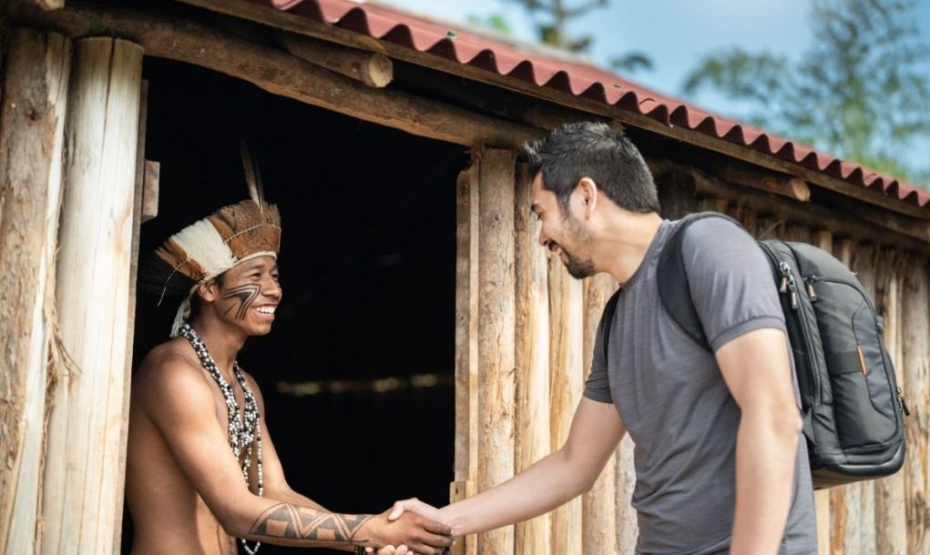 Beautiful shooting of how Brazilian Native lives in Brazil Sustainable Lifestyle