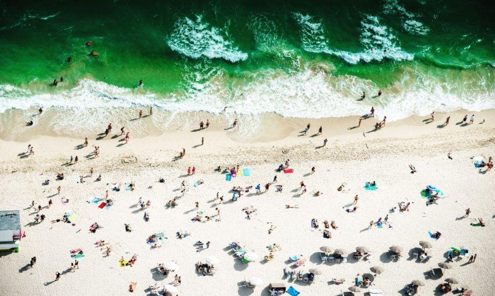 Aerial view of south beach