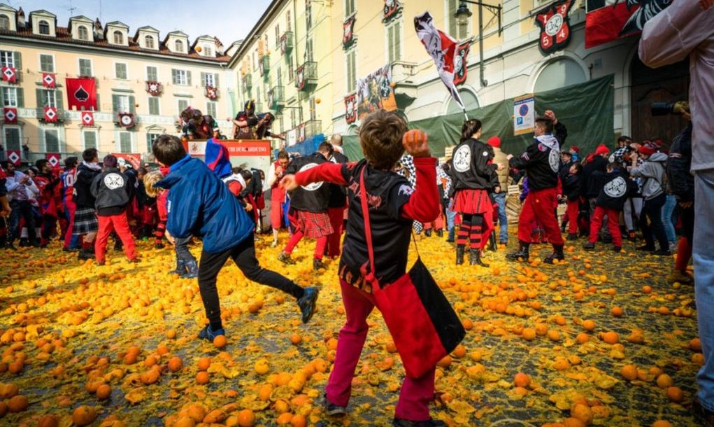 Battle of the Oranges in Ivrea