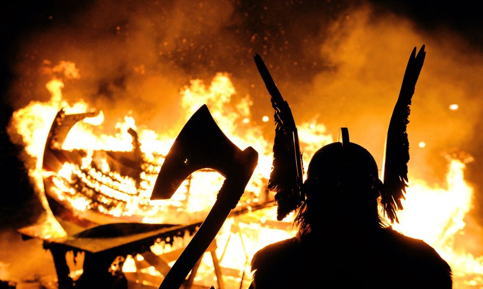 photo from Up Helly Aa festivals in Scotland -