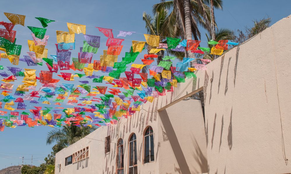 Walking on the streets of Todos Santos, Magic Town, in Baja California Sur State. Mexico