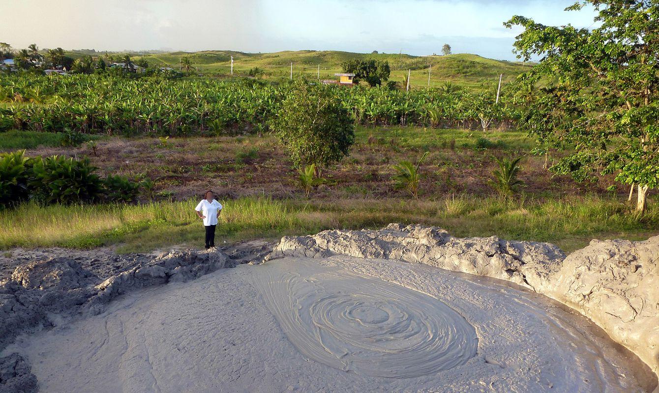 Digity Mud Volcano in the Barrackpore - Penal region, South Trinidad