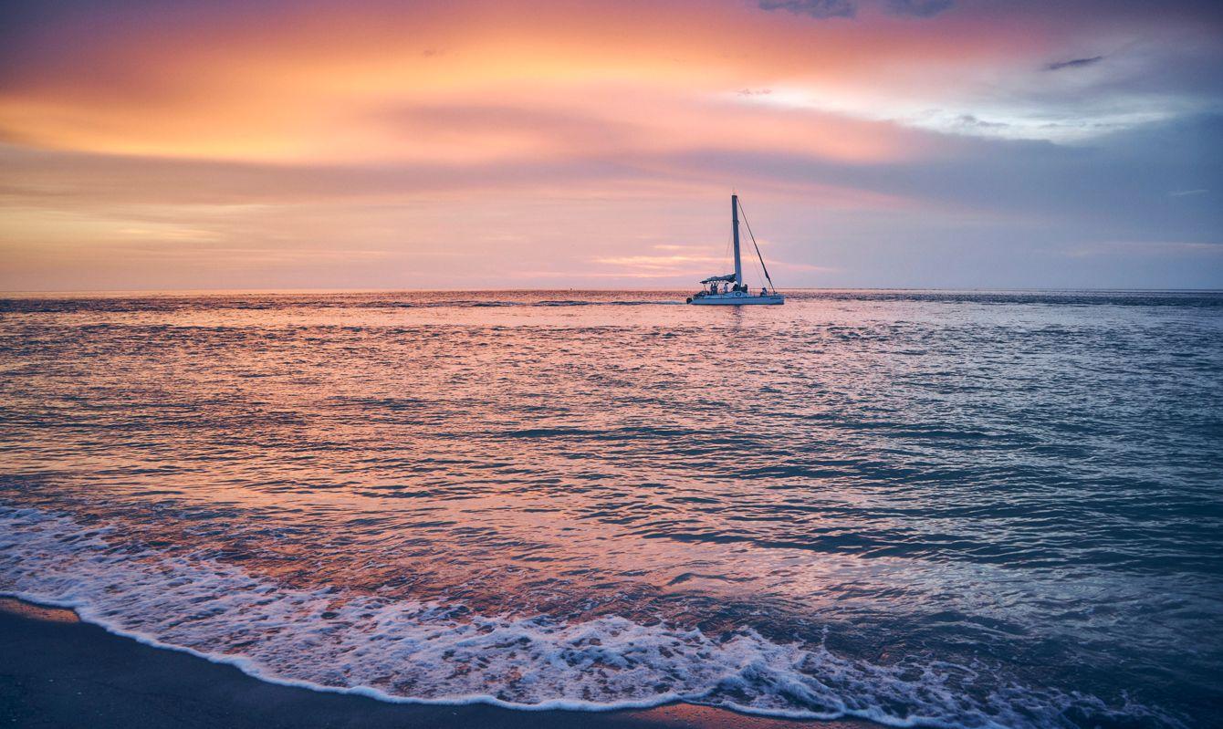 Captiva Island Sailboat captured in sunset