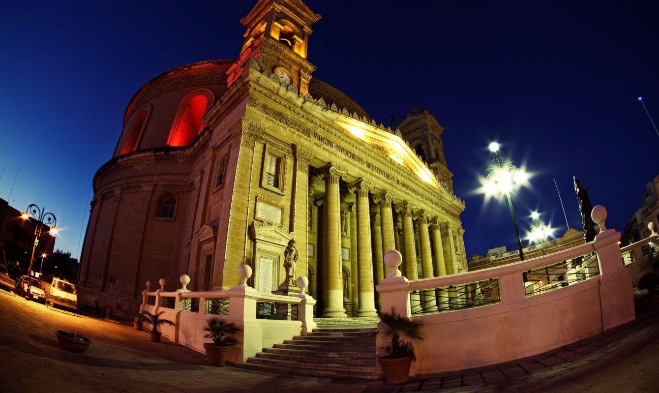 Mosta Dome, Rotunda of St Mary - Night View