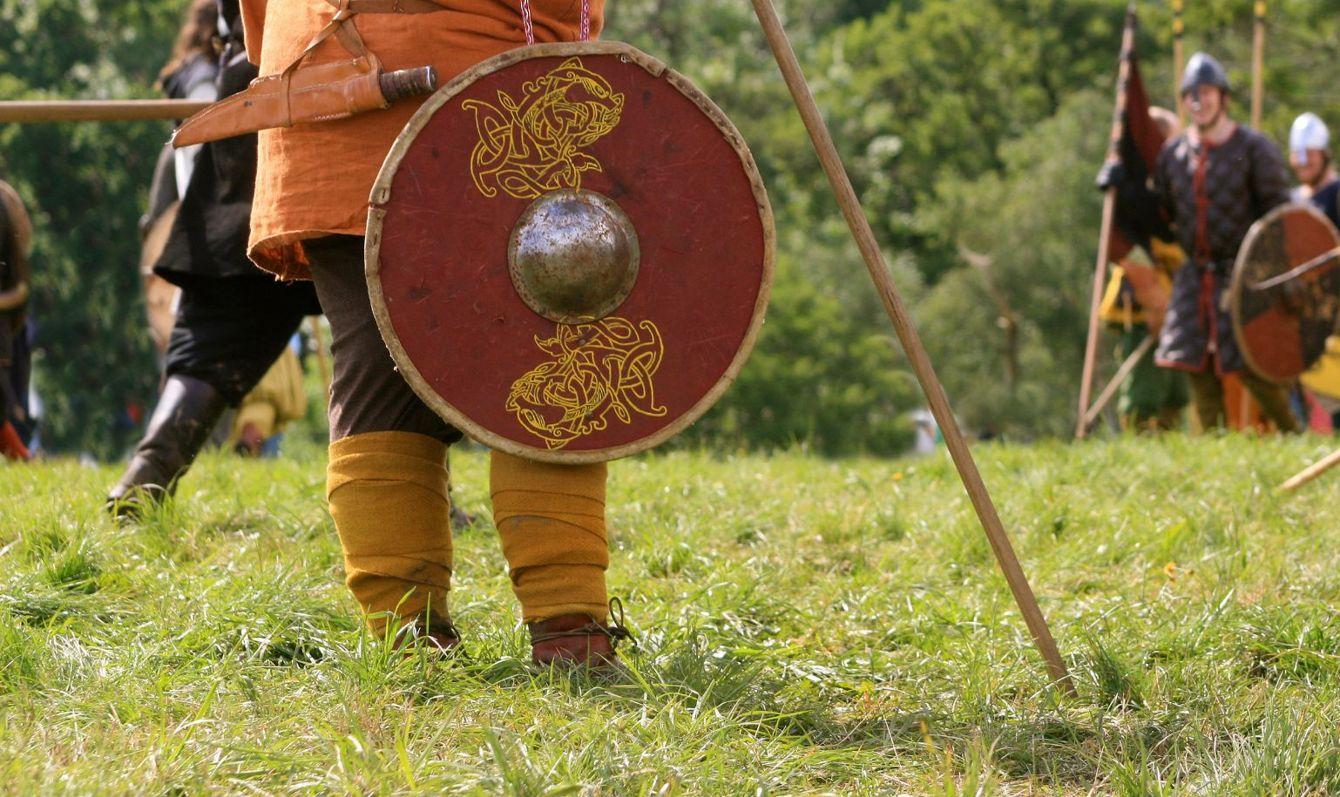 viking festival in moesgard, denmark