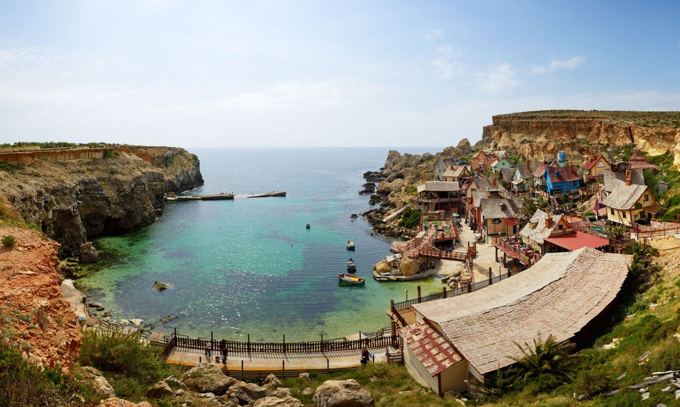 """""""Popeye village"""" is a tourists attraction in Malta"""
