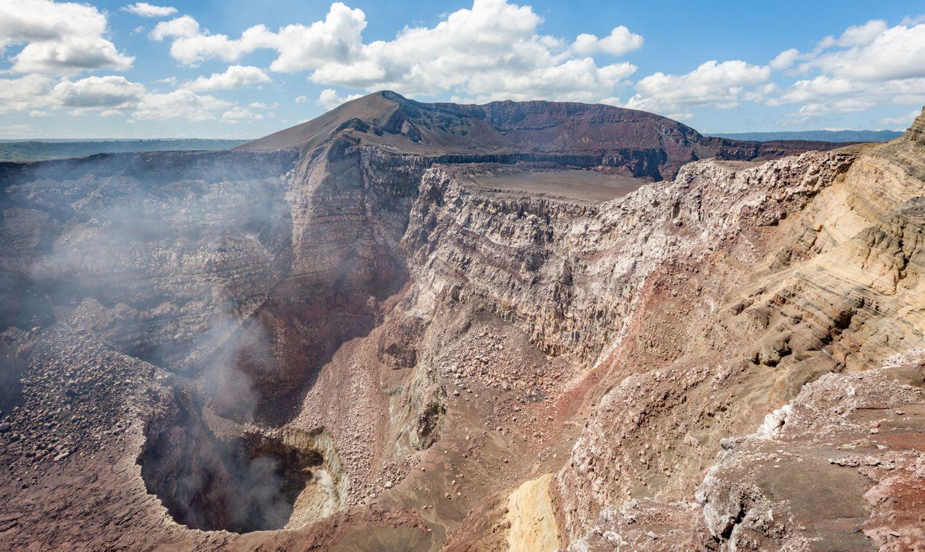 Smoking Active Masaya Volcano Santiago Crater Nicaragua -