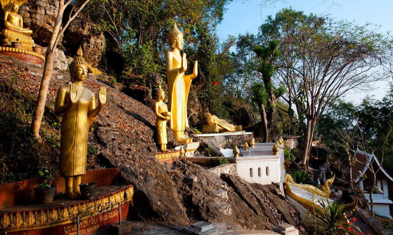 Mount Phousi Buddha Statues - Luang Prabang