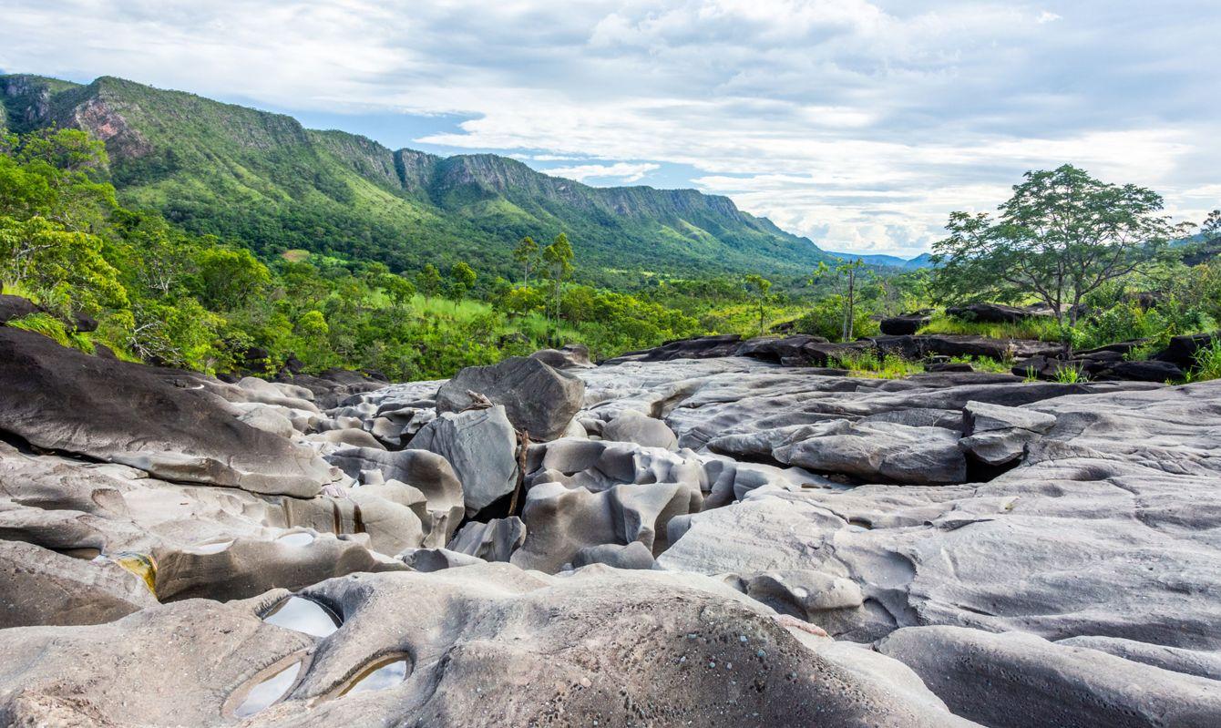 The beauty of Vale da Lua (Moon Valley), at Chapada dos Veadeiros, Goias, Brazil