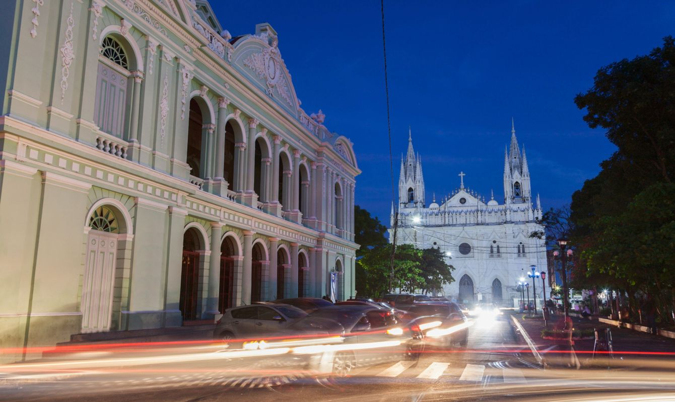 Santa Ana Cathedral and Theatre. Santa Ana, El Salvador.