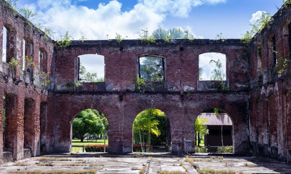 Ruin in Paramaribo
