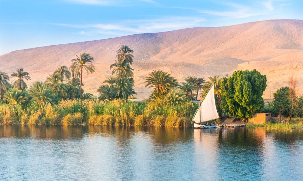 River Nile in Egypt. Luxor, Africa