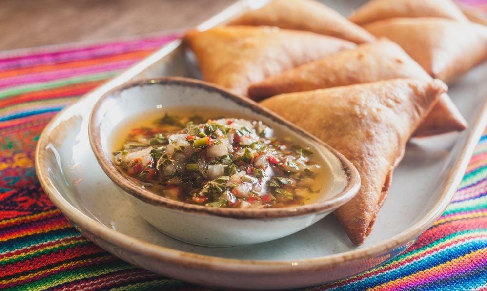 Empanadas with pevre south american