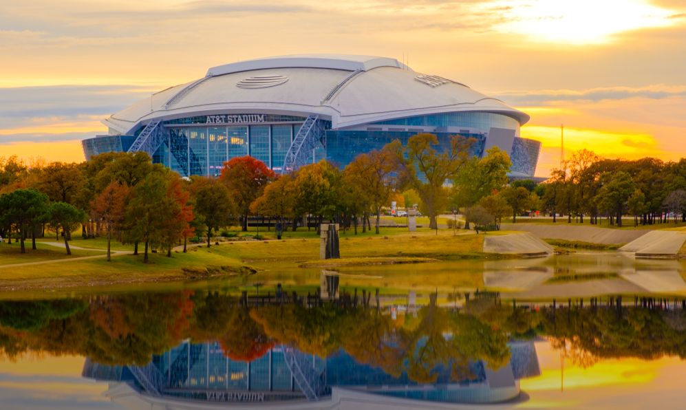 home of the Dallas Cowboys AT&T Stadium located in Arlington, Texas USA,