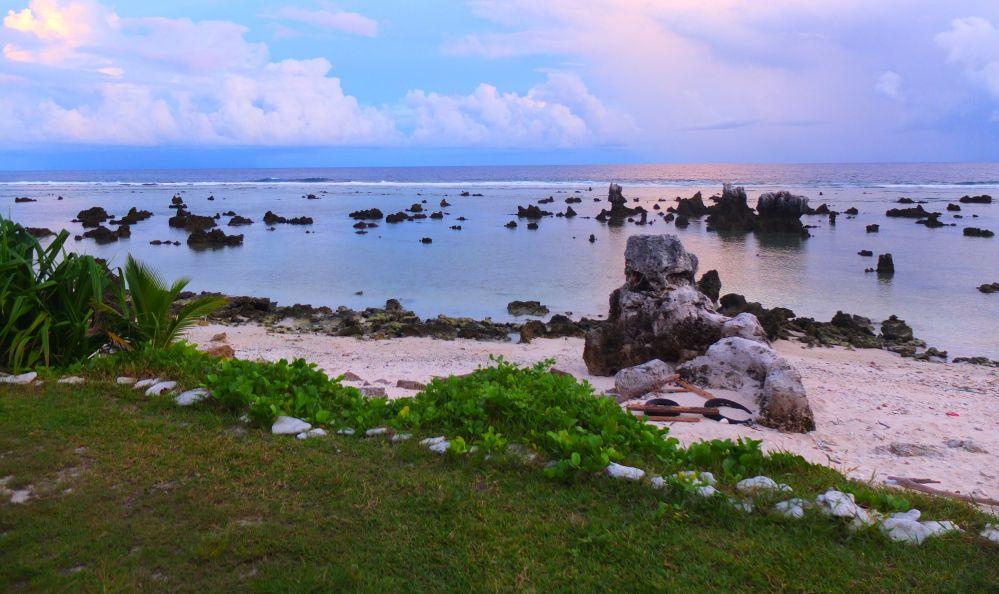 Coral rocks on a Anibare beach, Nauru