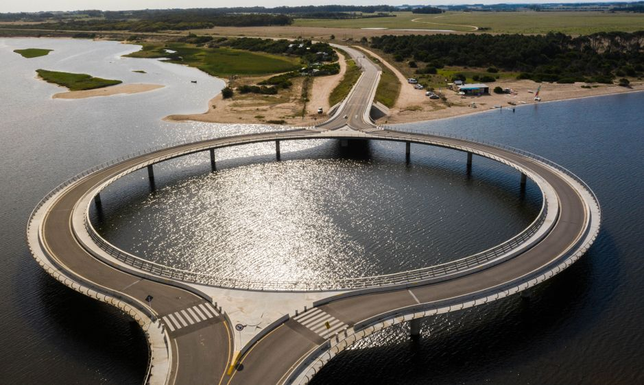 Laguna Garzon Bridge in Uruguay