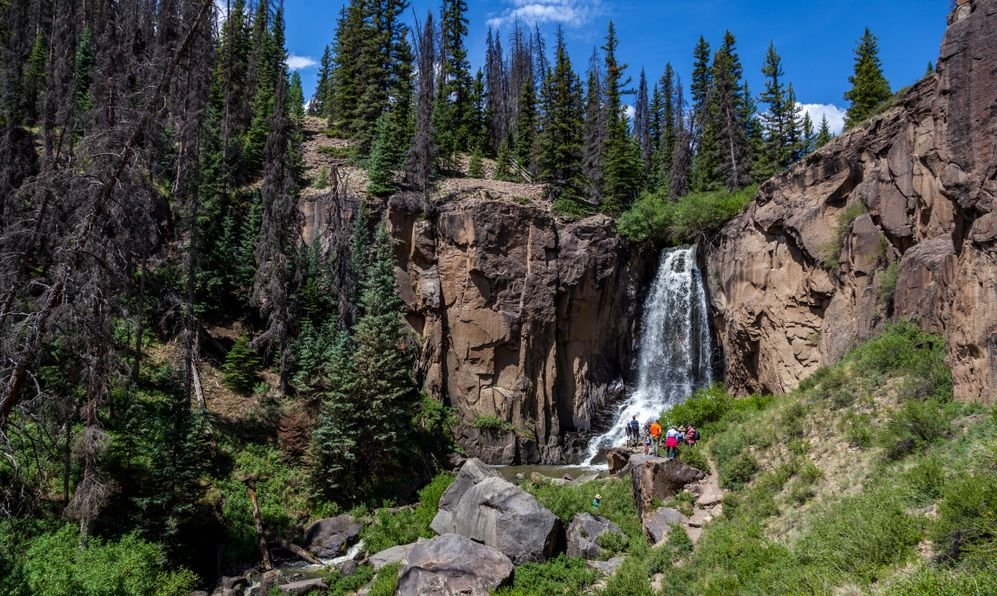 South Clear Creek Waterfall in Mineral County, Colorado