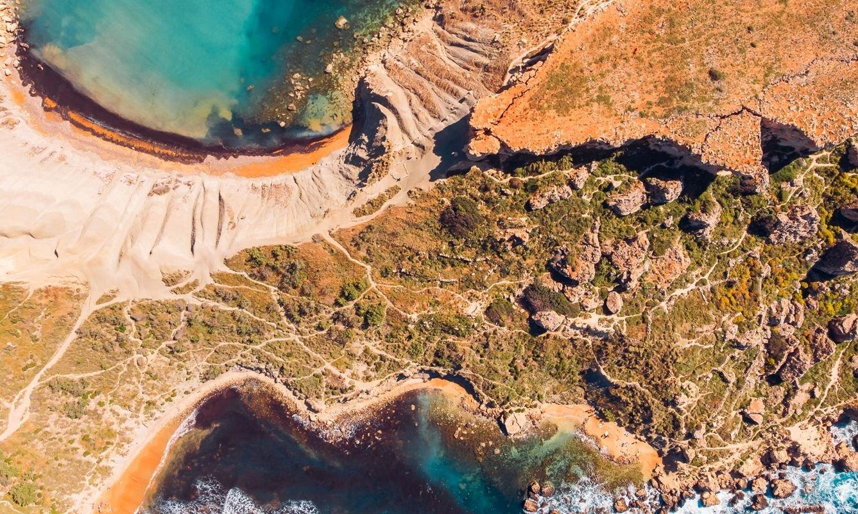 Ghajn Tuffieha Golden bay on Malta island