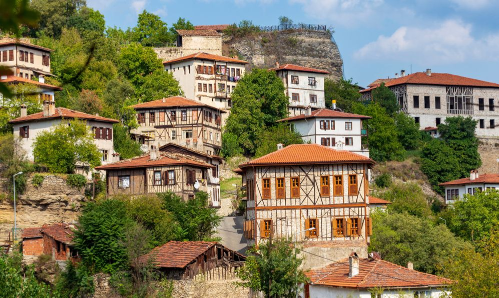 Traditional ottoman houses in Safranbolu, Turkey. Safranbolu is under protection of UNESCO World Heritage Site