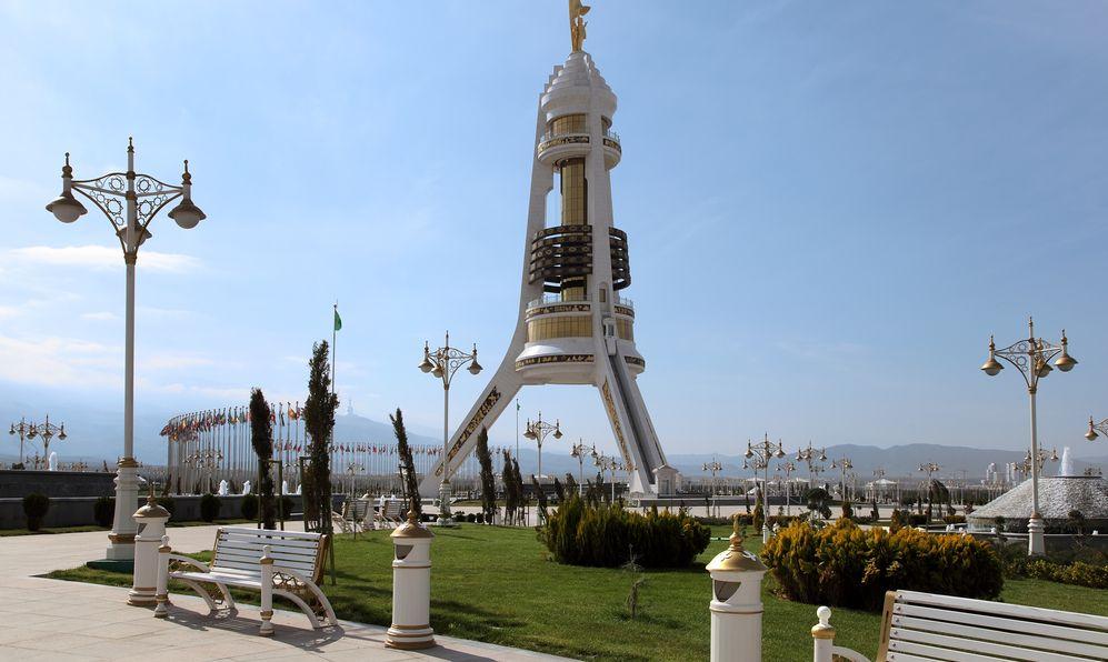 Monument Neutrality Arch. Ashkhabad. Turkmenistan